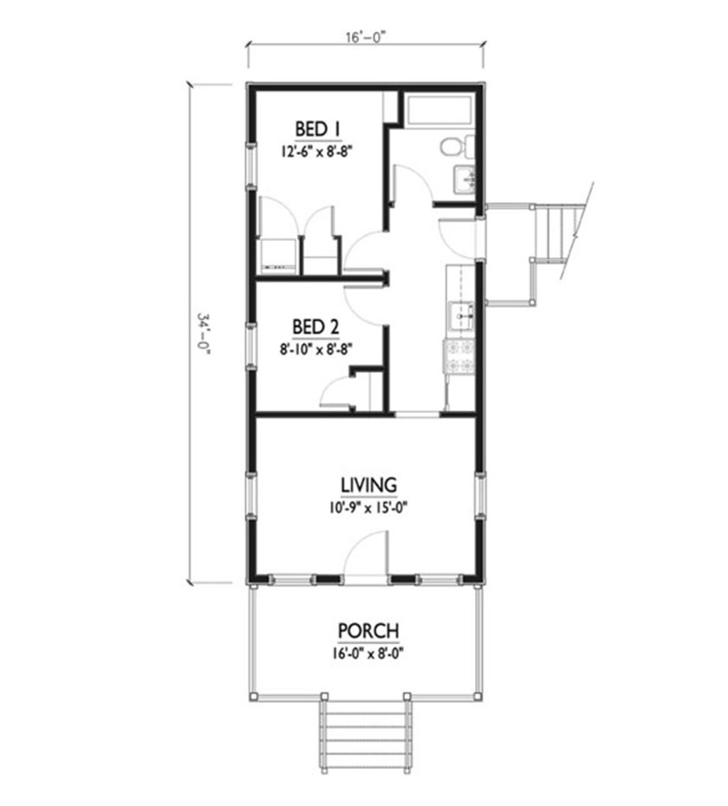 Rectangle house plans nice rectangle shape floor plans for Contemporary designs of one bedroom cottages