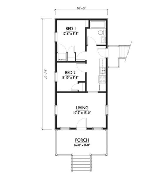 Cabin plan floor plan